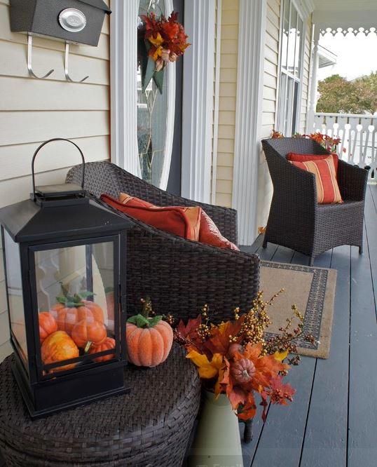 Bring the warm colors of fall inside your home - Como amueblar una casa ...