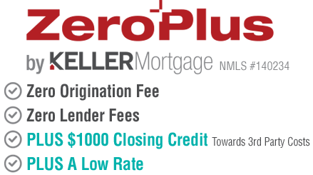 Mortgage loan with zero lender fees